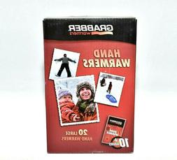 Grabber Warmers 10 Hour Hand Warmers - 20 Large Hand Warmers
