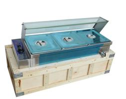 3 Pan Hot Well Bain Marie Food Warmer 110V 1.5KW Steam Table