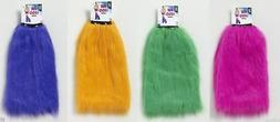 80's Fur Furry Neon Leg Warmers Covers Club Candy Rave Adult