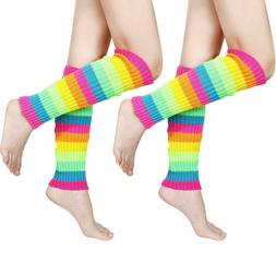 80s Women Knit Leg Warmers Ribbed Leg Warmers for Party Acce
