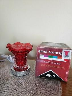 """Aroma Electric Oil /Tart Burner/Warmer """"Red Lacy Design"""" Tou"""