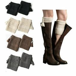 Bestjybt Womens Short Boots Socks Crochet Knitted Boot Cuffs