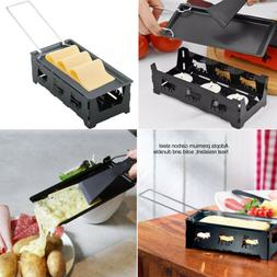Cheese Raclette Melter Warmer Pan Nonstick Tealight Serve Ki