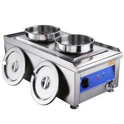 Commercial Food Warmer Portable Steam Table Countertop 1200W