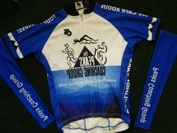 Cycling Women short Sleeve bike Jersey AND arm warmers size