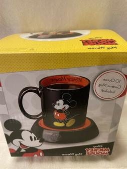 Disney Mickey Mouse Mug Warmer 10 Ounce Ceramic Mug Includes