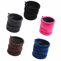 Dual-layers Thick Fleece Thermal Neck Warmer Tube Gaiter Sca