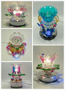 Electric Glass Multi Color With LED Light Fragrance Touch la