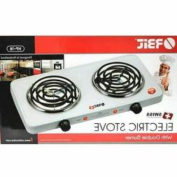 Orbit Electric Stove Dual 2 Burner Hot Plate Countertop Warm