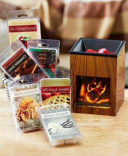 Fireplace Tart Wax Warmer Holder or 36 Pc Tart Sampler Candl