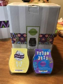 """Scentsy Full Size Warmer """"Summer Nights"""" / With 2 Snects"""