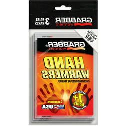 Grabber Hand Warmers 7+ hours, 6 warmers per Order