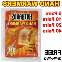 HotHands Hand Warmers 1 5 10 20 40 Pairs Safe Natural Odorle
