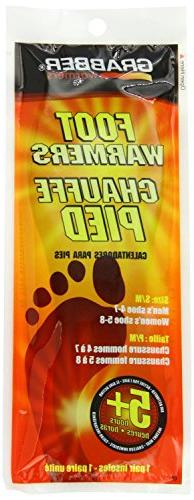 Grabber Warmers 5+ Hour Ultra Thin Foot Warmer Insoles , Box