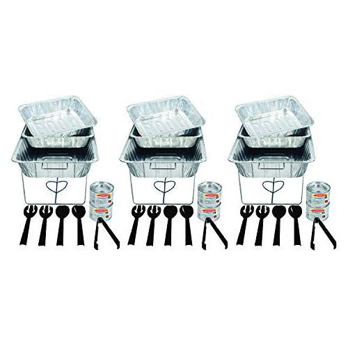 Party Essentials 33 Piece Party Serving Kit, Includes Chafin