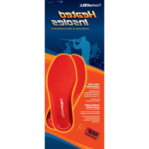 ThermaCell Heated Insoles Foot Warmer Rechargeable S, M, L,