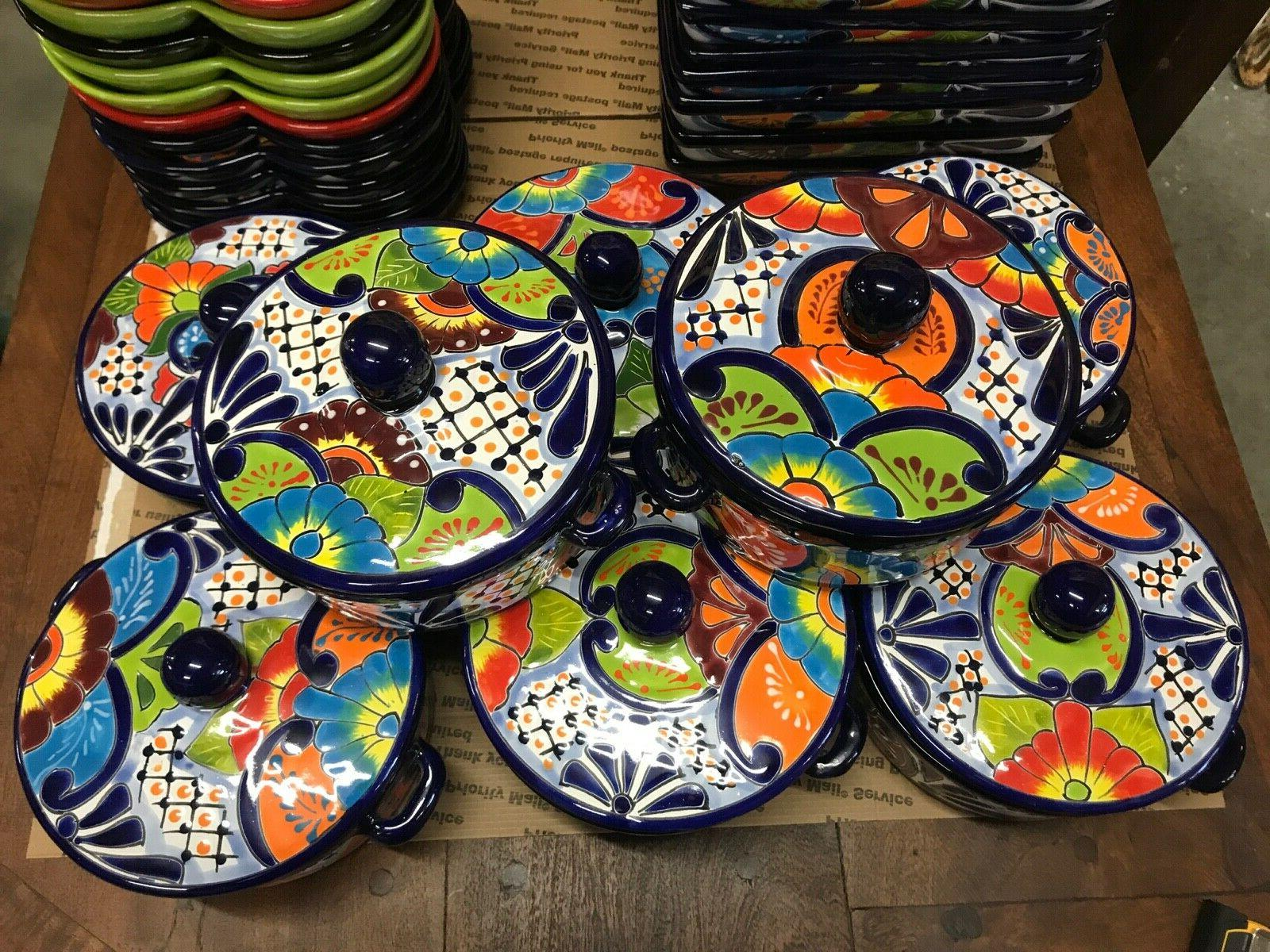 Mexican Pottery Talavera Tortilla Holder Warmer Kitchen Cani