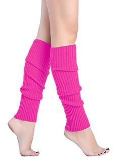 V28 Women Juniors 80s Eighty's Ribbed Leg Warmers for Party