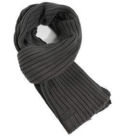 CACUSS Men's Long Thick Cable Cold Winter Warm Scarf Soft Kn