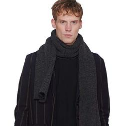 CACUSS Men's Winter Long Thick Cable Knitted Scarf Soft Warm