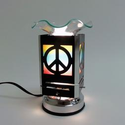 Metal Sculpture Leaf Electric Touch control Oil Wax Warmer B