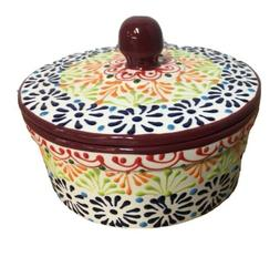 Mexican Talavera Tortilla PUEBLA Basket Warmer Keeper Kitche