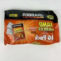 NEW Grabber Hand Warmers 10 pairs 20 pouches 7+ hours air ac