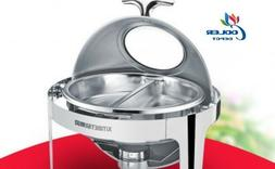 NEW Round Two Pan Electric Chafer Chafing Dish Window Buffet