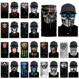 Skull Cycling Face Mask Motorcycle Head Scarf Neck Warmer Sk