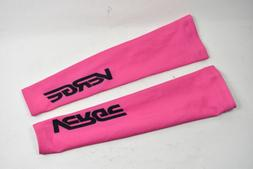 Small Women's Verge Fleece Cycling Arm Warmers Pink CLOSEOUT